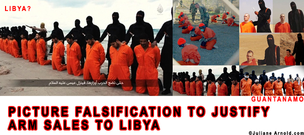 picture falsification to justify arm sales to libya